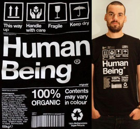 Human being styled clothes label