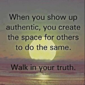 Image of sunset with quote. Walk in your truth.